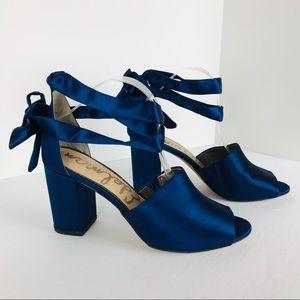 Sam Edelman Odele 10 block heel pumps ankle tie